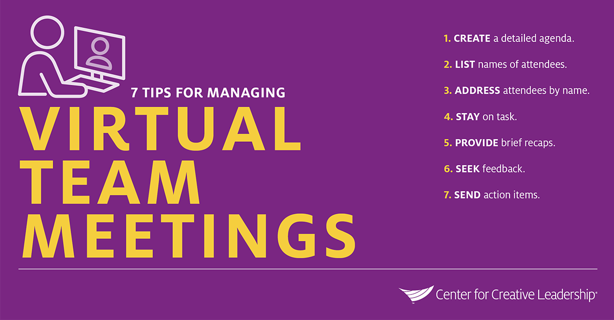 Infographic: 7 Tips for Managing Virtual Teams and Meetings