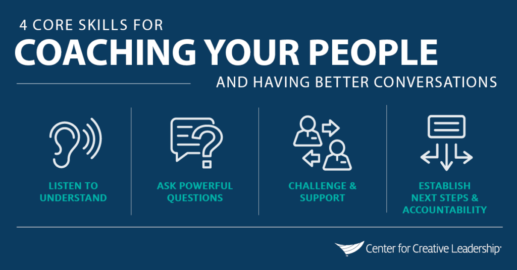 Infographic: 4 Core Skills to Coach Your People: LACE