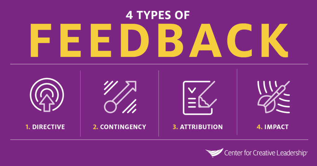 Infographic: The 4 Types of Feedback