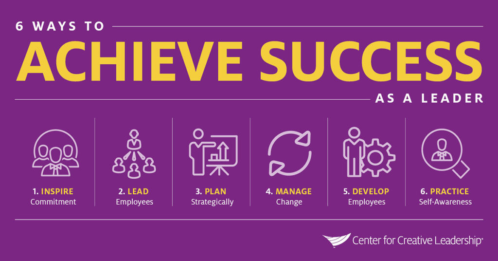 Infographic: 6 Ways to Achieve Success - How to Succeed as a Leader