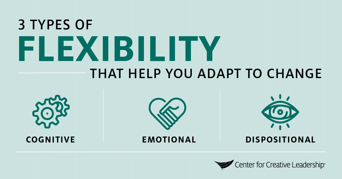 Infographic: 3 Types of Flexibility that help you adapt to change - Center for Creative Leadership