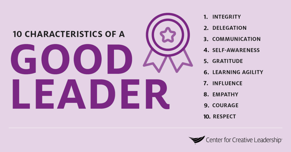 Infographic: The Characteristics of a Good Leader - 10 Key Qualities of a Good Leader